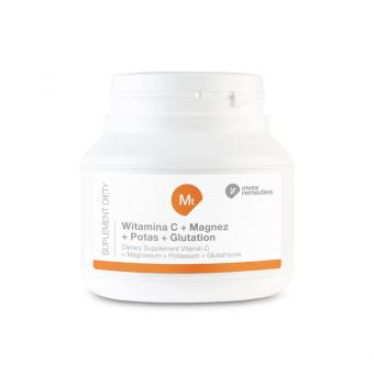 Suplement diety - Witamina C+ Magnez + Potas+ Glutation 150G